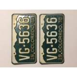 1970 Colorado License Plates - G&G