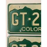 1977 Colorado License Plates - VVG