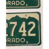 1977 Colorado License Plates - VG&G