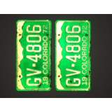 1972 Colorado License Plates - E&VG