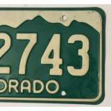 1977 Colorado License Plates - G/F