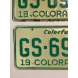 1973 Colorado License Plates - VG&G