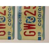 1976 Colorado License Plates - VG&G