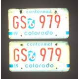 1976 Colorado License Plates - G&VG