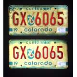 1976 Colorado Centennial License Plate - VG+&G