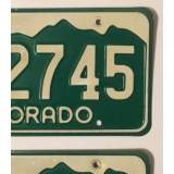 1977 Colorado License Plates - VVG&VG