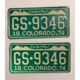 1974 Colorado License Plates - G&G
