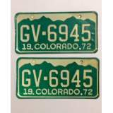 1972 Colorado License Plates - VG&G