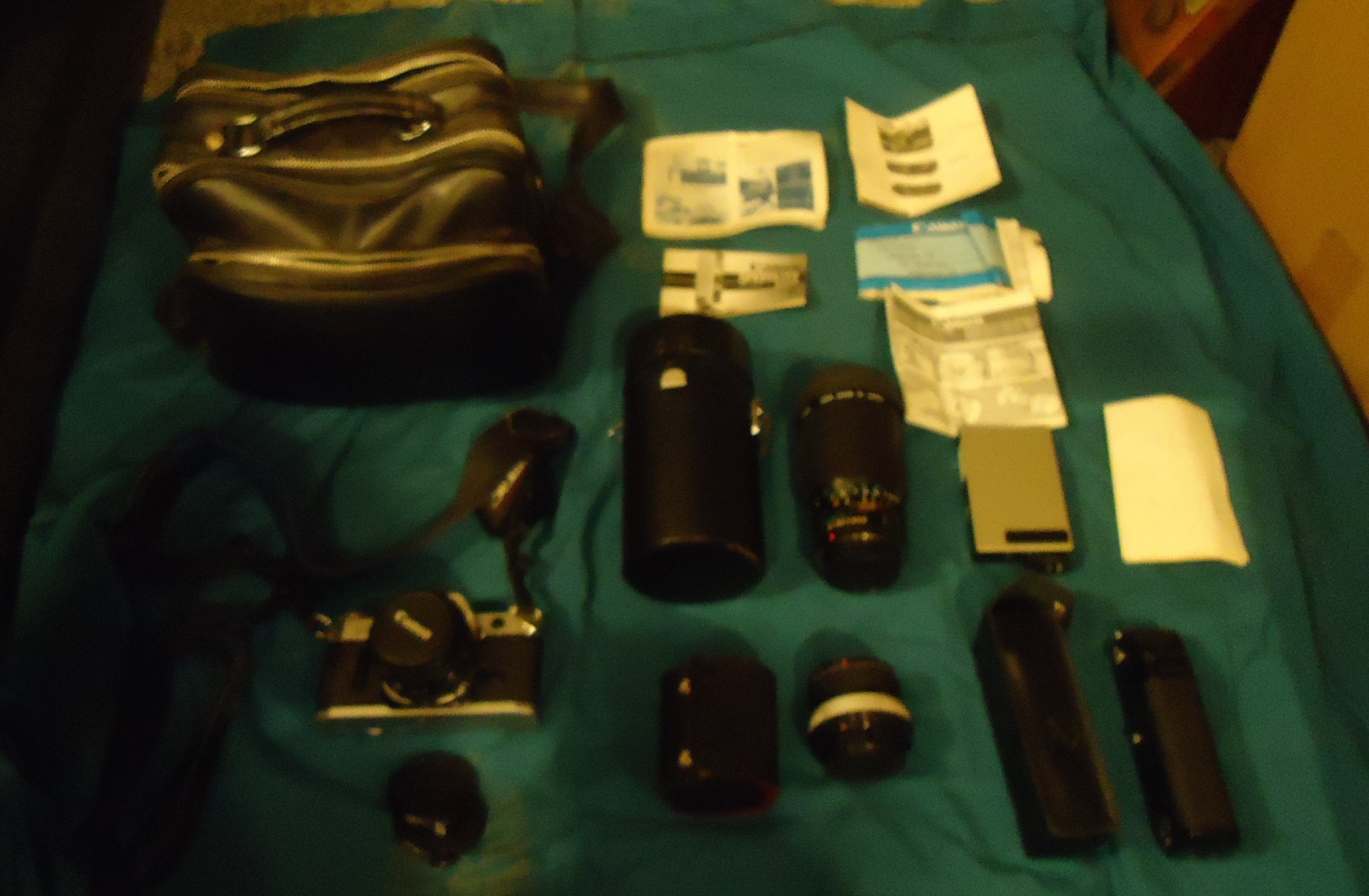 Vintage CANON AE-1 35MM CAMERA W/CASE & ACCESSORIES