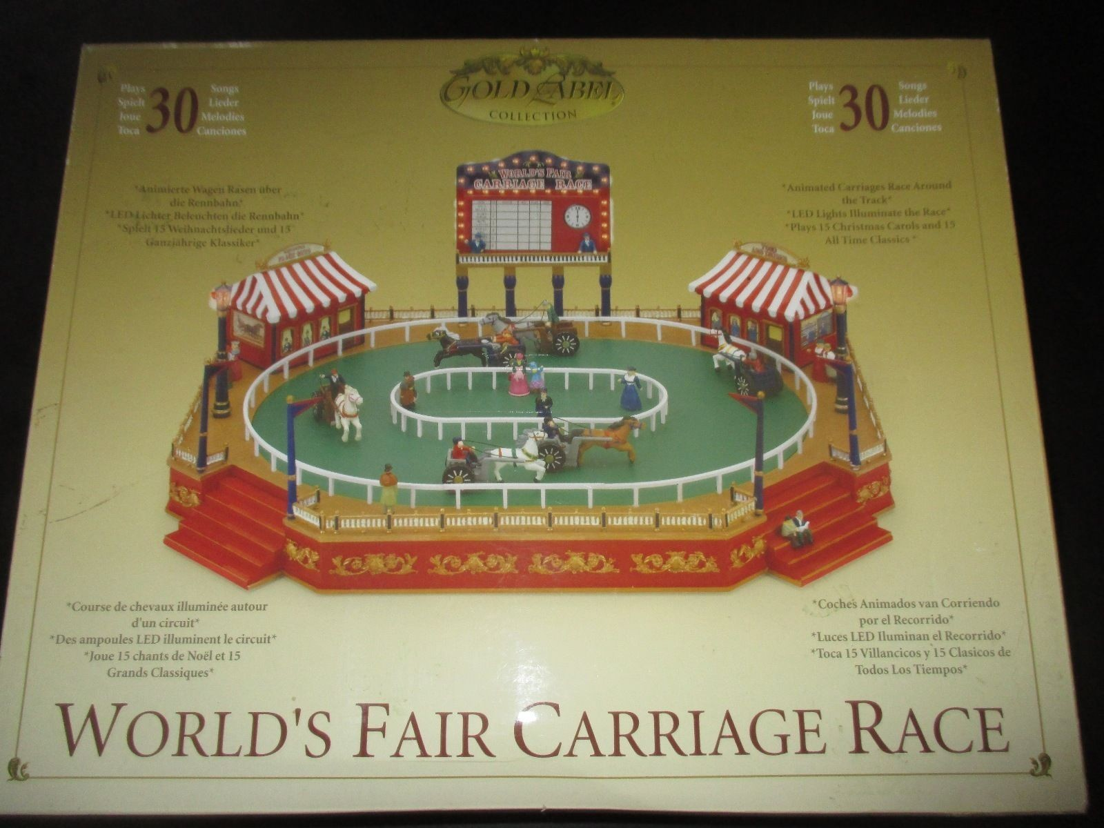 Mr Christmas gold label World's Fair Carriage Race - Works!