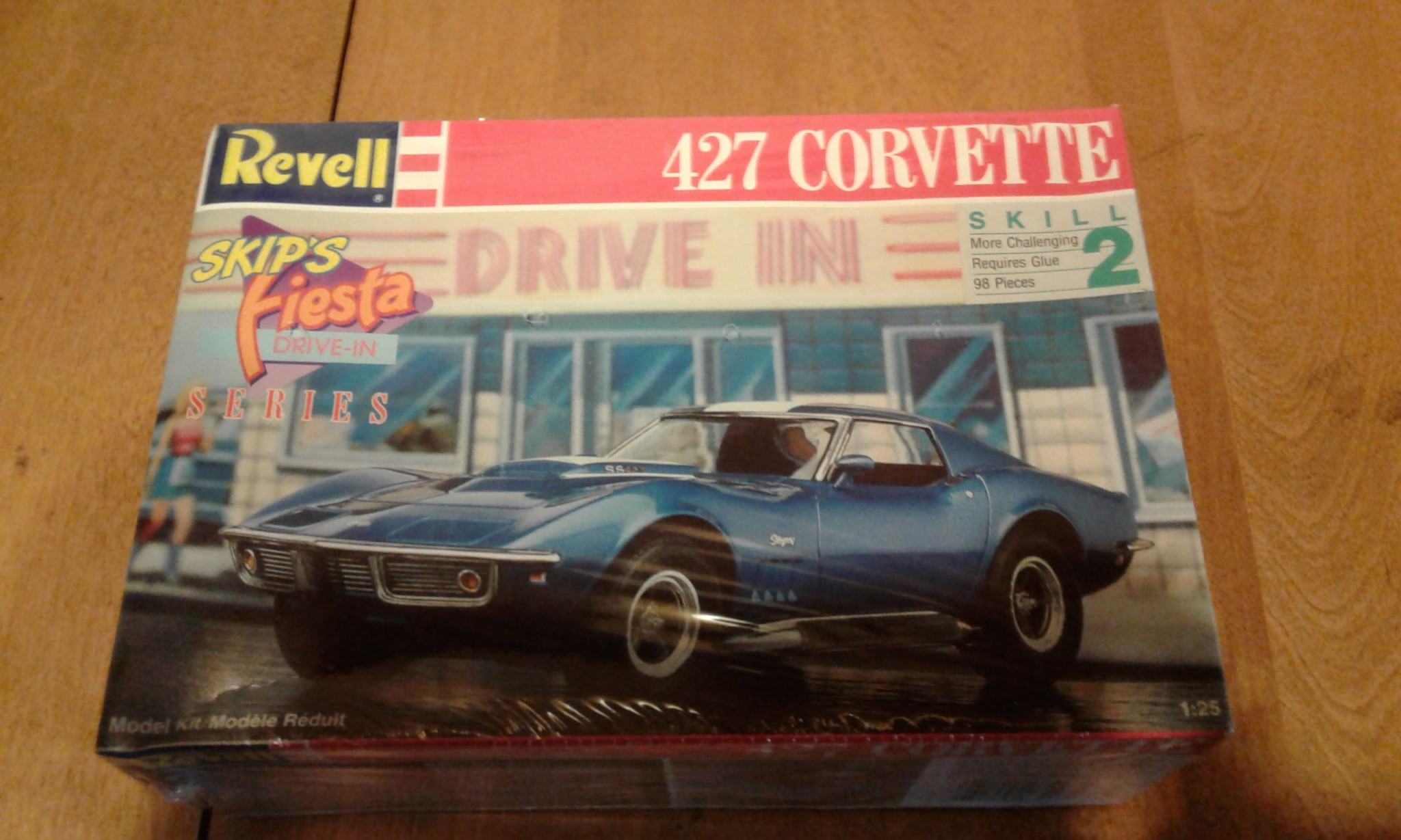 REVELL BALDWIN MOTION 427 CORVETTE MODEL CAR KIT 7427 SKIPS FIESTA SERIES SEALED