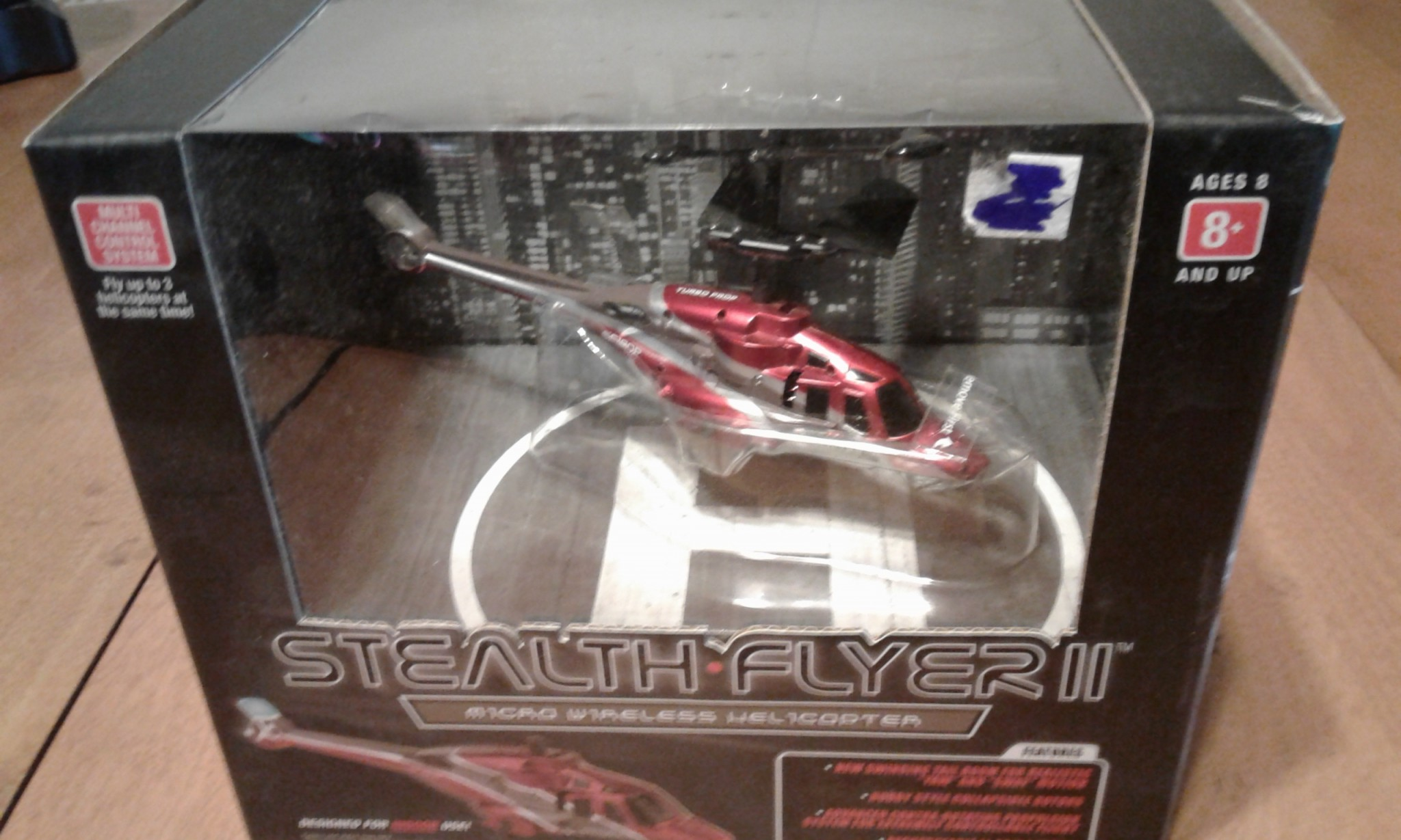 New STEALTH FLYER II Micro Wireless INDOOR Helicopter PROPEL R/C 80' Range LED