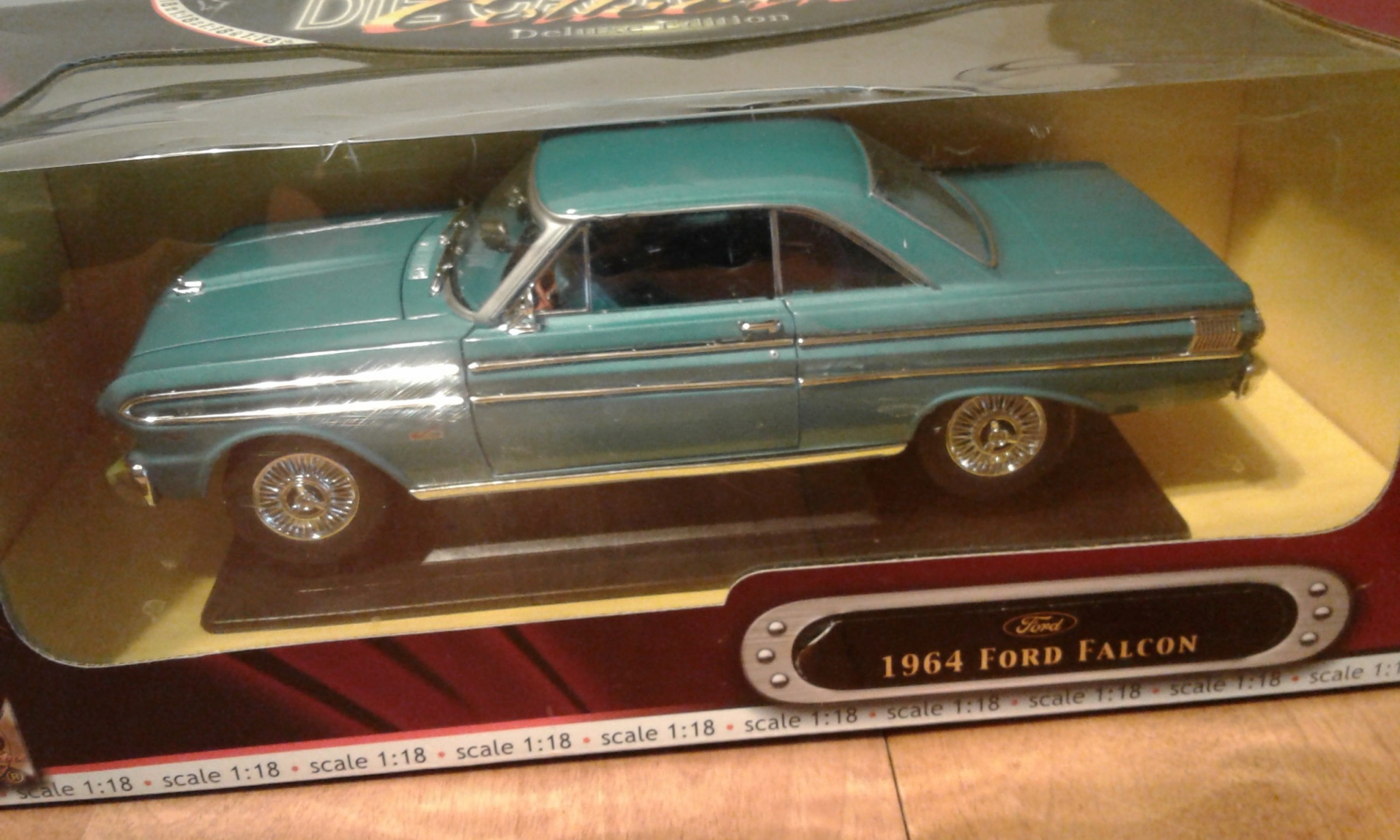1964 FORD FALCON BLUE 1/18 DIECAST CAR MODEL BY ROAD SIGNATURE 92708