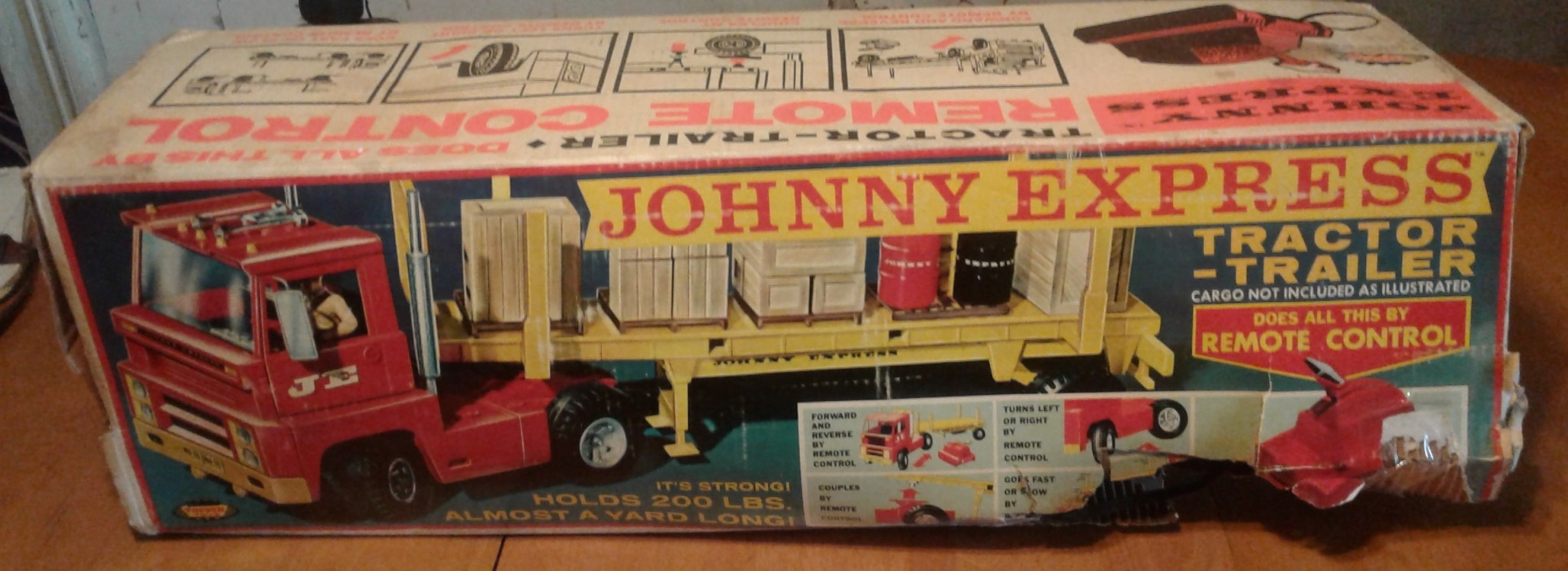 Vintage TOPPER Toyland JOHNNY EXPRESS TRUCK AND tractor trailer