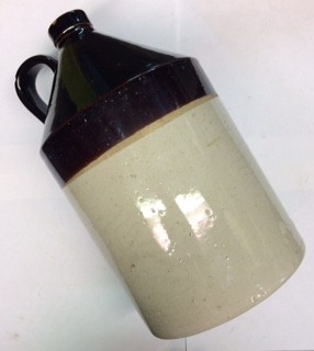 Antique Two-Toned Whiskey Jug